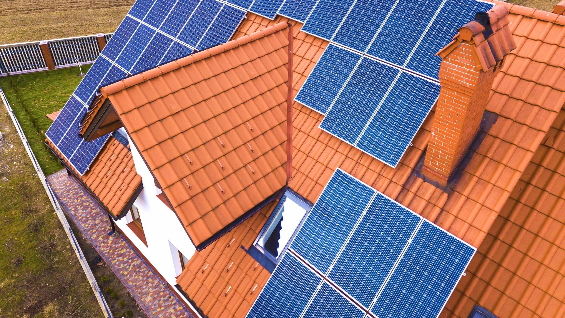 Northern Ireland Domestic Property with Solar Panels Installed on the Roof